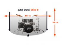 Drumscherm Crystal Sound 205x150 cm Incl. Softhoes