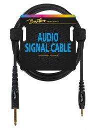 Audiokabel Boston 3,5 mm naar 6,3 mm jack 1,5 m mono