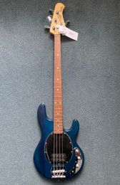 Basgitaar Sterling Sub Ray 4 Translucent Blue Satin by Music Man