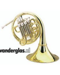 Bb Waldhoorn Hoyer 704-L messing gelakt