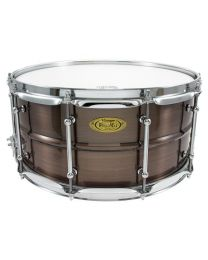 """Snaredrum Worldmax 14x6.5"""" Brushed Red Copper Brass Shell"""