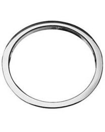 Bassdrum hole O's 5 inch chrome