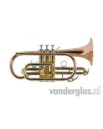 Bb Cornet VDG BRASS gelakt GB Monel vent.