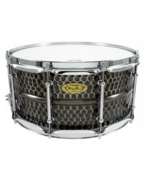 "Snaredrum Worldmax 14""x6.5"" Hammered Brass shell"