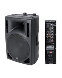 "Drummonitor 210 watt Alpha audio 15"" speaker incl. stand"