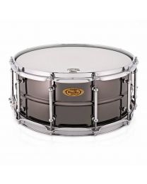 "Snaredrum Worldmax 14x6.5"" Beaded Brass, Black Nickel"