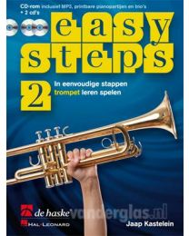 Muziekboek Trompet Easy Steps deel 2