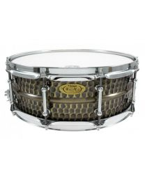 "Snaredrum Worldmax 14""x5"" Hammered Brass shell"