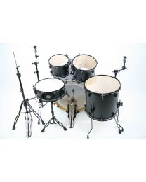 Occasion Drumstel Ludwig Element black incl. zwarte Mapex hardware