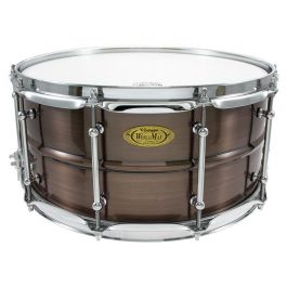 "Snaredrum Worldmax 14""x6.5"" Brushed Red Copper Brass Shell"