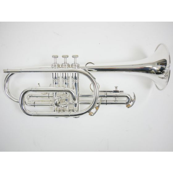 Cornet Bb King model 603 verzilverd lang model/Mooi