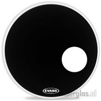 "Resonantievel    vel 24"" Evans EQ3 BD24RB black"