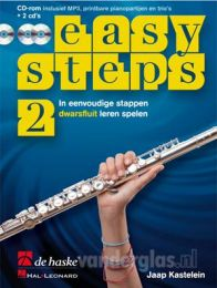 Muziekboek Dwarsfluit Easy Steps  deel 2