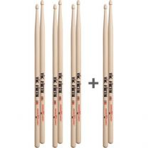 Drumstokkenset Vic Firth 5B 3+1 GRATIS
