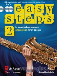 Muziekboek Altsax Easy Steps deel 2